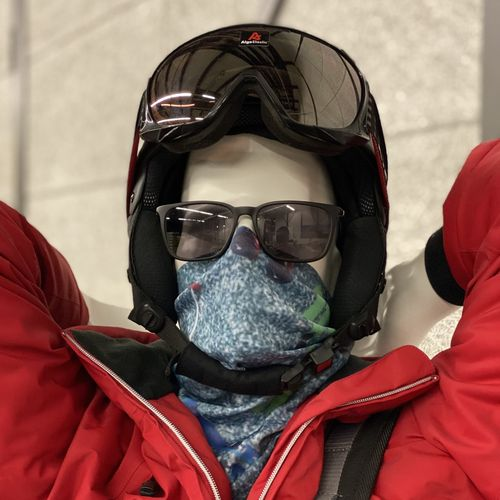 Face Wind Mask Snow Crystal - 5
